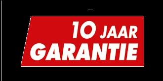 wij geven 10 jaar garantie